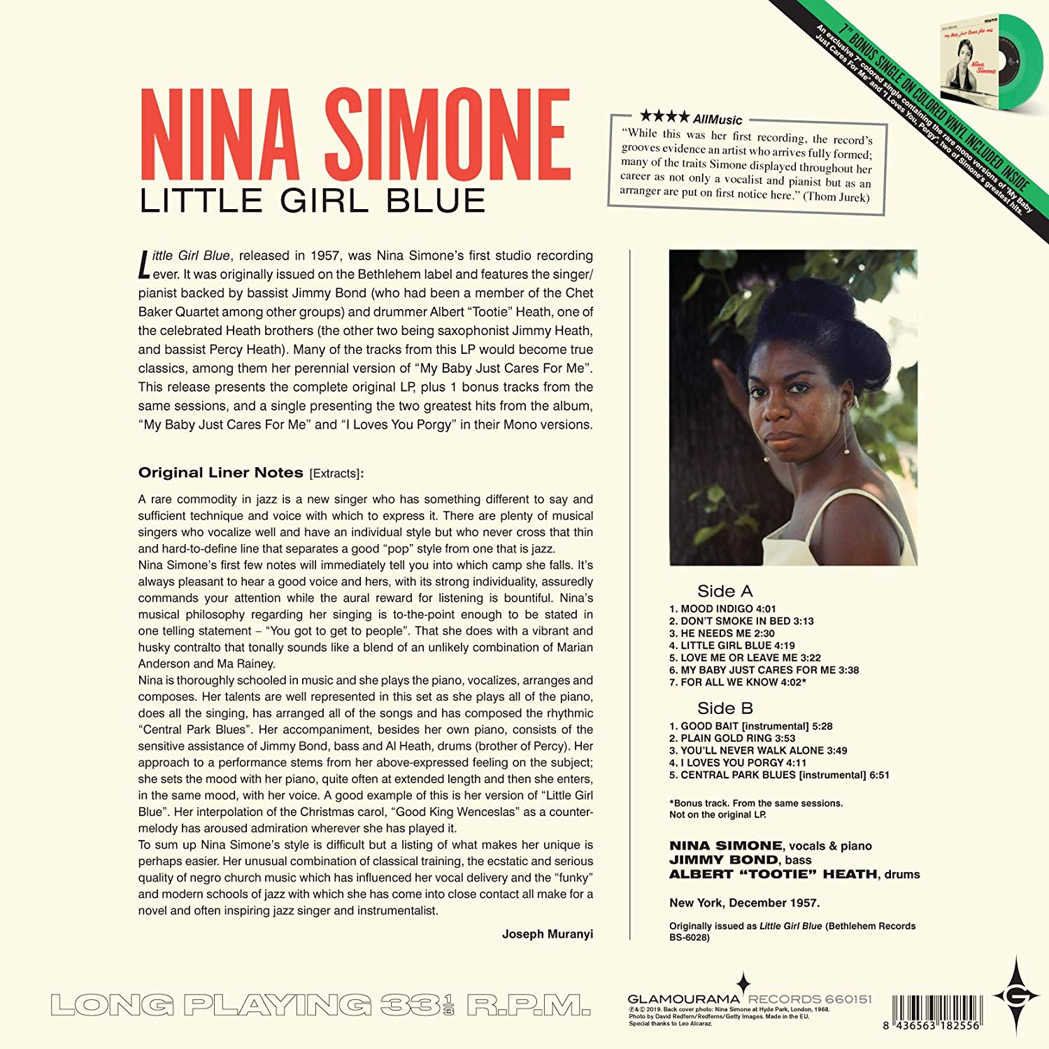 LITTLE GIRL BLUE + An Exclusive 7-inch Colored Single