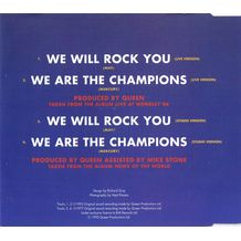 WE WILL ROCK YOU / WE ARE THE CHAMPIONS / LIVE AT WEMBLEY '86
