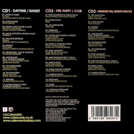 CAFE MAMBO IBIZA 2010 MIXED BY ALEX WOLFENDEN