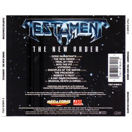 THE NEW ORDER ( RE-ISSUE)