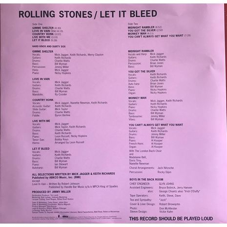 LET IT BLEED  -50TH ANNIVERSARY EDITION