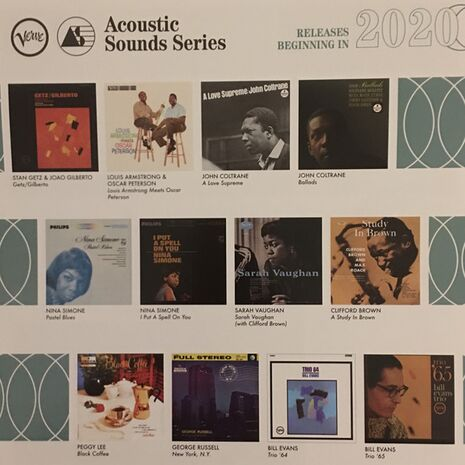 GETZ / GILBERTO ( VERVE ACOUSTIC SOUNDS - AUDIOPHILE VINYL RE-ISSUES)