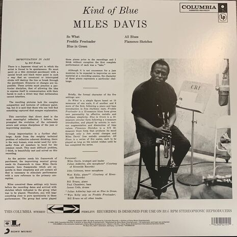 KIND OF BLUE - LIMITED CLEAR STEREO EDITION 2021 RE-ISSUE